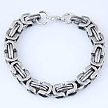 cheap -Men's Chain Bracelet - Vintage Fashion European Gold Silver Bracelet For Street