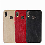 cheap -Case For Huawei P20 lite P20 Embossed Back Cover Solid Colored Hard PU Leather for Huawei P20 lite Huawei P20 P10 Plus P10 Lite P10 P8