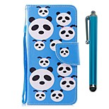 cheap -Case For Huawei P9 lite mini Huawei P smart Card Holder Wallet with Stand Flip Magnetic Full Body Cases Panda Hard PU Leather for P10