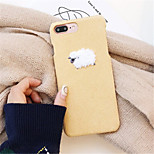 cheap -Case For Apple iPhone X iPhone 7 Plus Pattern Back Cover Cartoon Hard Textile for iPhone X iPhone 8 Plus iPhone 8 iPhone 7 Plus iPhone 7