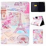 abordables -Funda Para Apple iPad mini 4 / iPad Pro 9.7 Flip Funda de Cuerpo Entero Torre Eiffel Dura Cuero de PU para iPad Air / iPad 4/3/2 / iPad