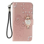 cheap -Case For Huawei P20 lite Card Holder Wallet with Stand Flip Pattern Full Body Cases Owl Hard PU Leather for Huawei P20 lite