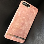cheap -Case For Apple iPhone X iPhone 7 Plus Pattern Back Cover Marble Hard PC for iPhone X iPhone 8 Plus iPhone 8 iPhone 7 Plus iPhone 7 iPhone