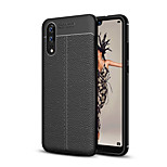 cheap -Case For Huawei P20 lite P20 Frosted Embossed Back Cover Solid Colored Soft TPU for Huawei P20 lite Huawei P20