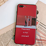 Недорогие -Кейс для Назначение Apple iPhone X iPhone 7 Plus С узором Кейс на заднюю панель Пейзаж Мягкий ТПУ для iPhone X iPhone 8 Pluss iPhone 8