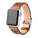 abordables -Ver Banda para Apple Watch Series 3 / 2 / 1 Apple Hebilla Moderna Cuero Auténtico Correa de Muñeca