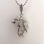 cheap -Men's Dragon Pendant Necklace  -  Simple Rock Silver 48cm Necklace For Daily