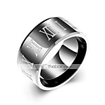 cheap -Men's Knuckle Ring - Circle Casual Black Ring For Daily / Street