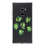 Недорогие -Кейс для Назначение Xiaomi Mi Mix 2 Прозрачный С узором Кейс на заднюю панель Растения Мягкий ТПУ для Xiaomi Mi Mix 2