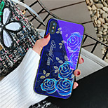 cheap -Case For Apple iPhone X iPhone 8 Shockproof Pattern Back Cover Flower Hard Tempered Glass for iPhone X iPhone 8 Plus iPhone 8 iPhone 7
