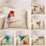 cheap -6 pcs Cotton/Linen Pillow Case Novelty Pillow Pillow Cover, 3D Oil Painting Novelty Artistic Style Creative