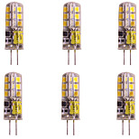 cheap -WeiXuan 6pcs 2W 160lm lm G4 LED Bi-pin Lights T 24pcs leds SMD 2835 Warm White Cold White 12V