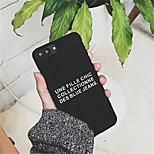 Недорогие -Кейс для Назначение Apple iPhone 7 Plus / iPhone 6 Plus С узором Кейс на заднюю панель Слова / выражения Твердый ПК для iPhone 7 Plus / iPhone 7 / iPhone 6s Plus
