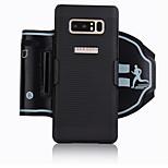 economico -Custodia Per Samsung Galaxy Note 9 Note 8 Fasce da braccio per sport Porta-carte di credito Resistente agli urti Fascia da braccio Tinta
