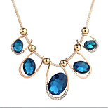 cheap -Women's Zircon Choker Necklace - Vintage Gift Geometric Blue 50cm Necklace For Evening Party Going out