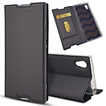 cheap -Case For Sony Xperia Z5 Mini Xperia XZ Card Holder with Stand Flip Full Body Cases Solid Colored Hard PU Leather for Sony Xperia Z5 Sony