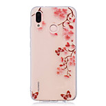 cheap -Case For Huawei P20 lite P20 Pro IMD Transparent Pattern Back Cover Flower Soft TPU for Huawei P20 lite Huawei P20 Pro Huawei P20 P10