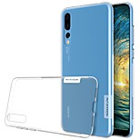cheap -Case For Huawei P20 Pro P20 Ultra-thin Transparent Back Cover Solid Colored Soft TPU for Huawei P20 lite Huawei P20 Pro Huawei P20