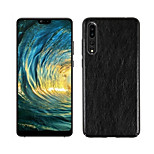 cheap -Case For Huawei P20 Pro P20 Embossed Back Cover Solid Colored Hard PU Leather for Huawei P20 lite Huawei P20 Pro Huawei P20 P10 Plus P10