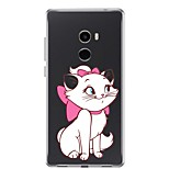 cheap -Case For Xiaomi Mi Mix 2 Transparent Pattern Back Cover Animal Soft TPU for Xiaomi Mi Mix 2
