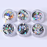 cheap -6pcs Sequins Glitters Glow Special Design Casual / Daily Nail Art Design