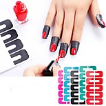 cheap -1pc nail art others Foil Sticker Other Solid Color Portable Professional Level Practice Sets