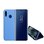 cheap -Case For Huawei P20 lite P20 with Stand Plating Mirror Full Body Cases Solid Colored Hard PC for Huawei P20 lite Huawei P20 Pro Huawei P20