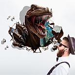 Недорогие -Наклейка на стену Декоративные наклейки на стены - 3D наклейки Абстракция Животные Съемная