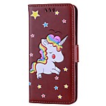cheap -Case For Xiaomi Redmi Note 4 Card Holder Wallet with Stand Flip Embossed Full Body Cases Unicorn Hard PU Leather for Xiaomi Redmi Note 4