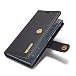 Недорогие -Кейс для Назначение Sony Xperia XZ1 Бумажник для карт Кошелек со стендом Флип Чехол Однотонный Твердый Настоящая кожа для Sony Xperia XZ1