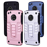 cheap -Case For Motorola MOTO G5 Shockproof with Stand Back Cover Solid Colored Hard PC for LG G5