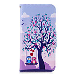 cheap -Case For Huawei P20 lite P20 Card Holder Wallet with Stand Flip Pattern Full Body Cases Tree Owl Hard PU Leather for Huawei P20 lite