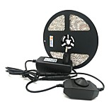 Недорогие -ZDM® 5 метров Наборы ламп 300 светодиоды 1 x диммерный переключатель 1 адаптер x 12V 3A Тёплый белый Холодный белый Зеленый Синий Красный