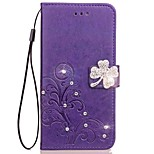 cheap -Case For Huawei P20 lite P20 Rhinestone Flip Embossed Full Body Cases Mandala Butterfly Hard PU Leather for Huawei P20 lite Huawei P20