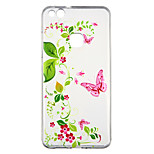 cheap -Case For Huawei P10 Lite Transparent Pattern Back Cover Butterfly Flower Soft TPU for P10 Lite