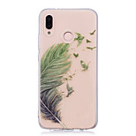cheap -Case For Huawei P20 lite P20 Pro IMD Transparent Pattern Back Cover Feathers Soft TPU for Huawei P20 lite Huawei P20 Pro Huawei P20 P10