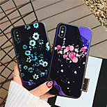 cheap -Case For Apple iPhone X iPhone 8 Shockproof Pattern Back Cover Heart Flower Hard Tempered Glass for iPhone X iPhone 8 Plus iPhone 8