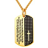 cheap -Men's Women's Stainless Steel Pendant Necklace  -  Fashion Geometric Gold Silver 55cm Necklace For Daily