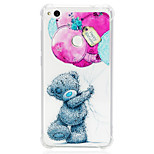 cheap -Case For Huawei P20 lite P10 Lite Shockproof Transparent Pattern Back Cover Animal Soft TPU for Huawei P20 lite P10 Lite Huawei P9 Lite
