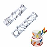 cheap -Bakeware tools Plastic DIY Creative Kitchen Gadget Birthday For Candy Cake For Cookie Cookie Cutters Cake Molds