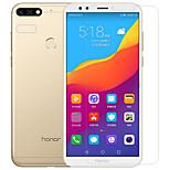 abordables -Protector de pantalla Huawei para Honor 7C(Enjoy 8) Y9 (2018)(Enjoy 8 Plus) PET Vidrio Templado 2 pcs Protector de lente frontal y de