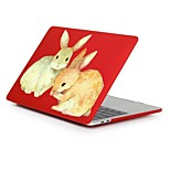 cheap -MacBook Case for Romantic Rabbit / Bunny Plastic New MacBook Pro 15-inch New MacBook Pro 13-inch Macbook Pro 15-inch MacBook Air 13-inch