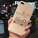 Недорогие -Кейс для Назначение Apple iPhone 6 Plus iPhone 7 Plus С узором Кейс на заднюю панель Мультипликация Мягкий ТПУ для iPhone 7 Plus iPhone 7