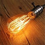 preiswerte -1pc 40W E26/E27 ST64 Warmes Weiß 2200-2700k K Retro Abblendbar Dekorativ Glühbirne Vintage Edison Glühbirne 220V-240V