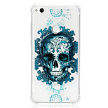 cheap -Case For Huawei P20 lite P10 Lite Shockproof Transparent Pattern Back Cover Skull Soft TPU for Huawei P20 lite P10 Lite Huawei P9 Lite P8