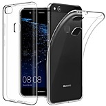 cheap -Case For Huawei P10 P10 Plus Ultra-thin Transparent Body Back Cover Solid Colored Soft TPU for P10 Plus P10 Lite P10 Huawei P9 Plus