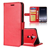 cheap -Case For Nokia Nokia 7 Plus Nokia 6 2018 Card Holder Wallet Flip Magnetic Full Body Cases Solid Colored Hard PU Leather for Nokia 9 Nokia