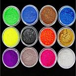 preiswerte -12st Nagel Kunst Nail Art Werkzeug Nagelknipser Netz Nail Art Kits und Zubehör Nagel-Kunst-DIY-Werkzeug-Zubehör Transformierbar glänzend