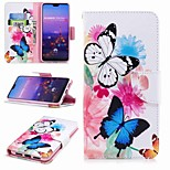 cheap -Case For Huawei P20 lite P20 Pro Card Holder Wallet with Stand Flip Pattern Full Body Cases Butterfly Hard PU Leather for Huawei P20 lite