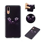 cheap -Case For Huawei P20 P8 Lite (2017) Pattern Back Cover Cat Soft TPU for Huawei P20 lite Huawei P20 Pro Huawei P20 P10 Lite P10 P9 lite